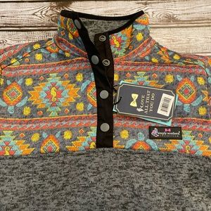 Simply Southern zippered pullover with pockets.